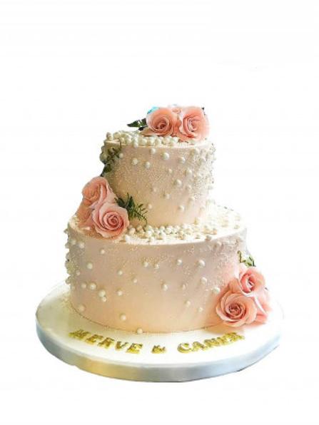 Pembe Çiçek Pasta