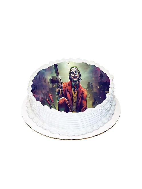 Joker Yuvarlak Resimli Pasta