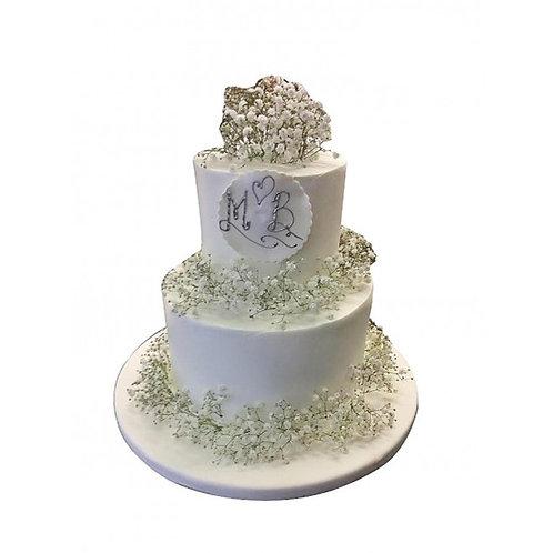 Beyaz Çiçek Pasta