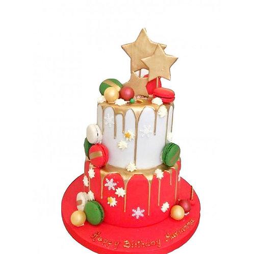 Yıldızlı Yılbaşı Pasta