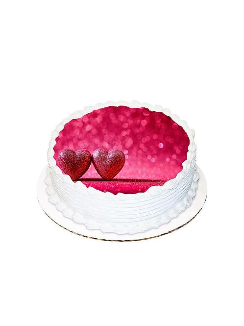 Sevgililer Günü Yuvarlak Resimli Pasta