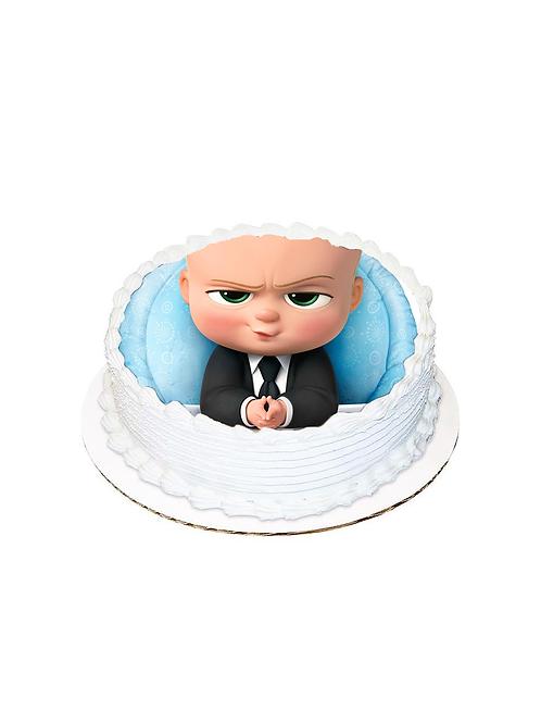Patron Bebek Yuvarlak Resimli Pasta