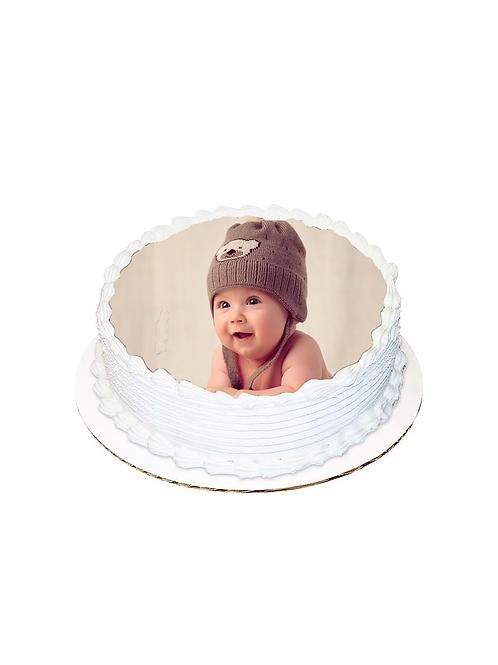 Bebek Yuvarlak Resimli Pasta