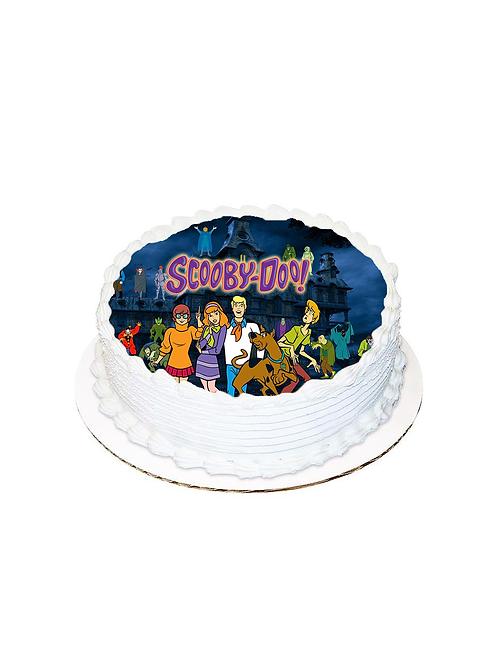Scooby Doo Yuvarlak Resimli Pasta