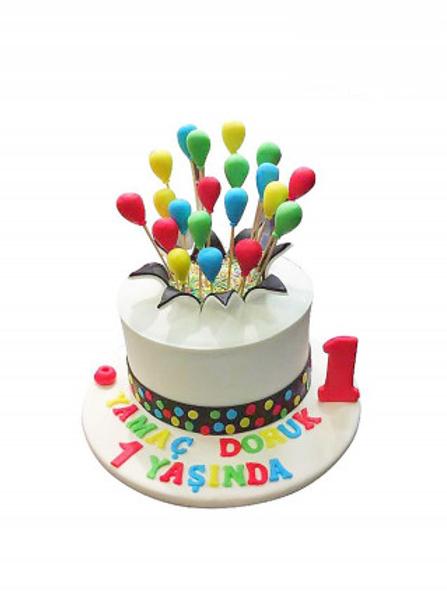 Şekerli Balon Pasta