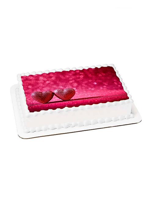 Sevgililer Günü Resimli Pasta