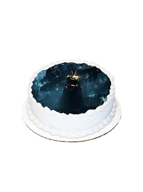Batman Yuvarlak Resimli Pasta