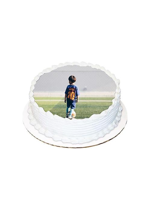 Messi Yuvarlak Resimli Pasta