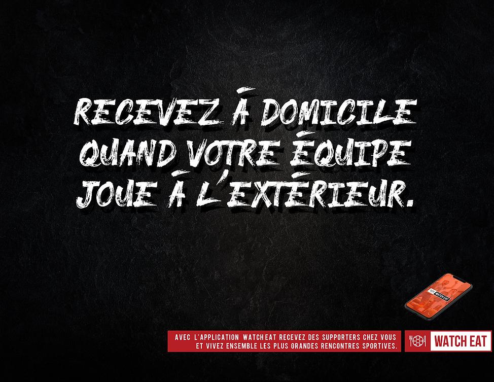 Campagne de publicité pour l'application Watch Eat réalisée par l'agence de publicité Les Nouveaux Concepteurs