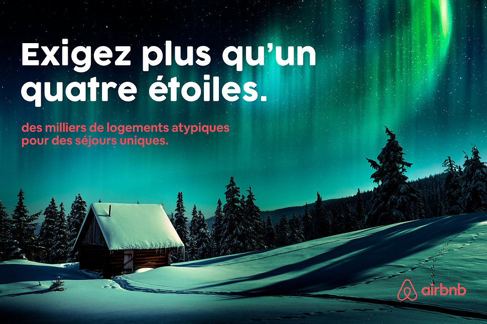 Campagne publicitaire pour la marque Airbnb