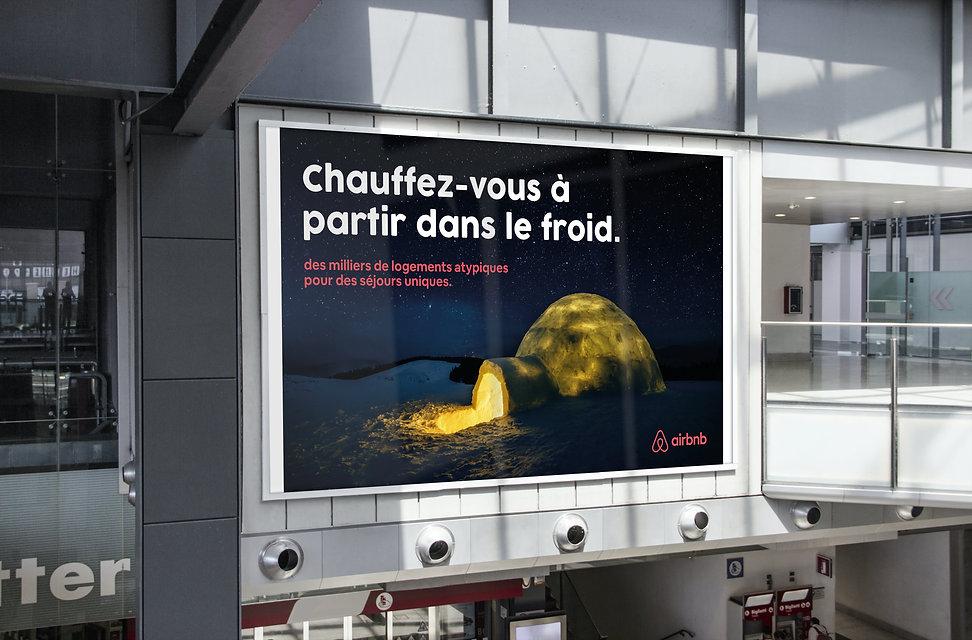 Campagne publicitaire pour Airbnb de l'agence de publicité Les Nouveaux Concepteurs