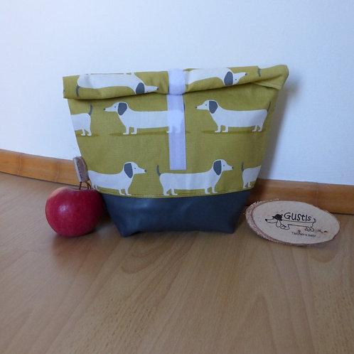 Lunchbag Dackel senffarben