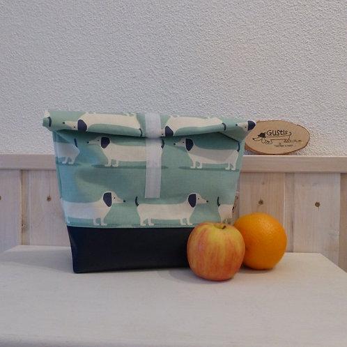 Lunchbag Dackel türkis