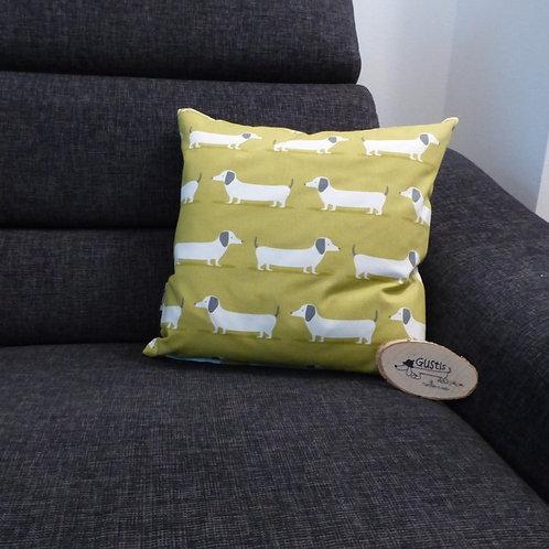 Kissen Dackel grün