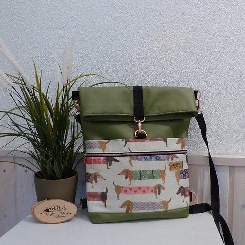Tasche und Rucksack 2 in 1