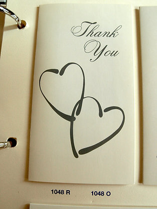Thank you cards with photo 25 cards & envelopes