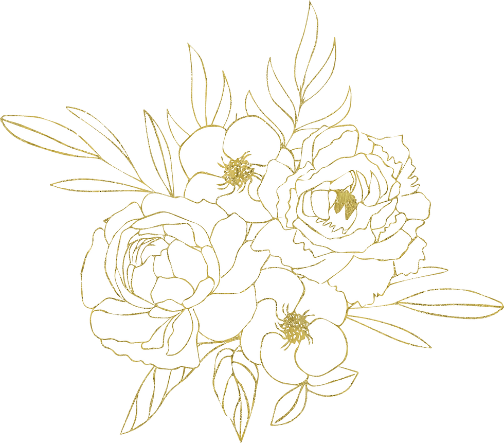 Flower Arrangement Gold on White.png