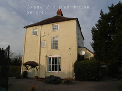 Grade 2 listed house, before...