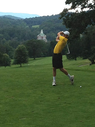 Matt Poyner golfing at the Homestead Resort in Virginia.