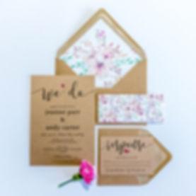 We Do Wedding Invitation RSVP Floral