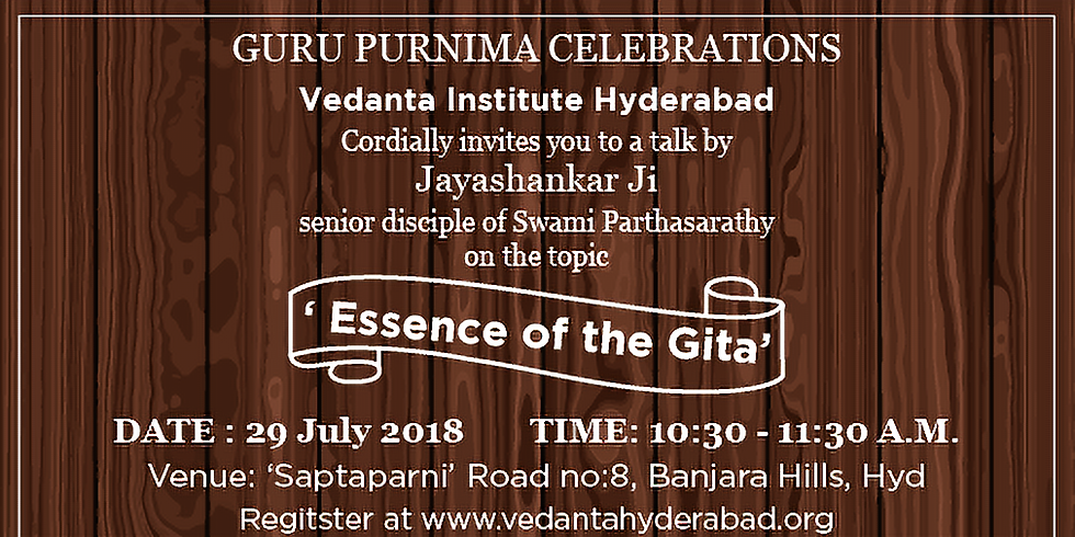 Essence of the Gita @ 'Saptaparni'