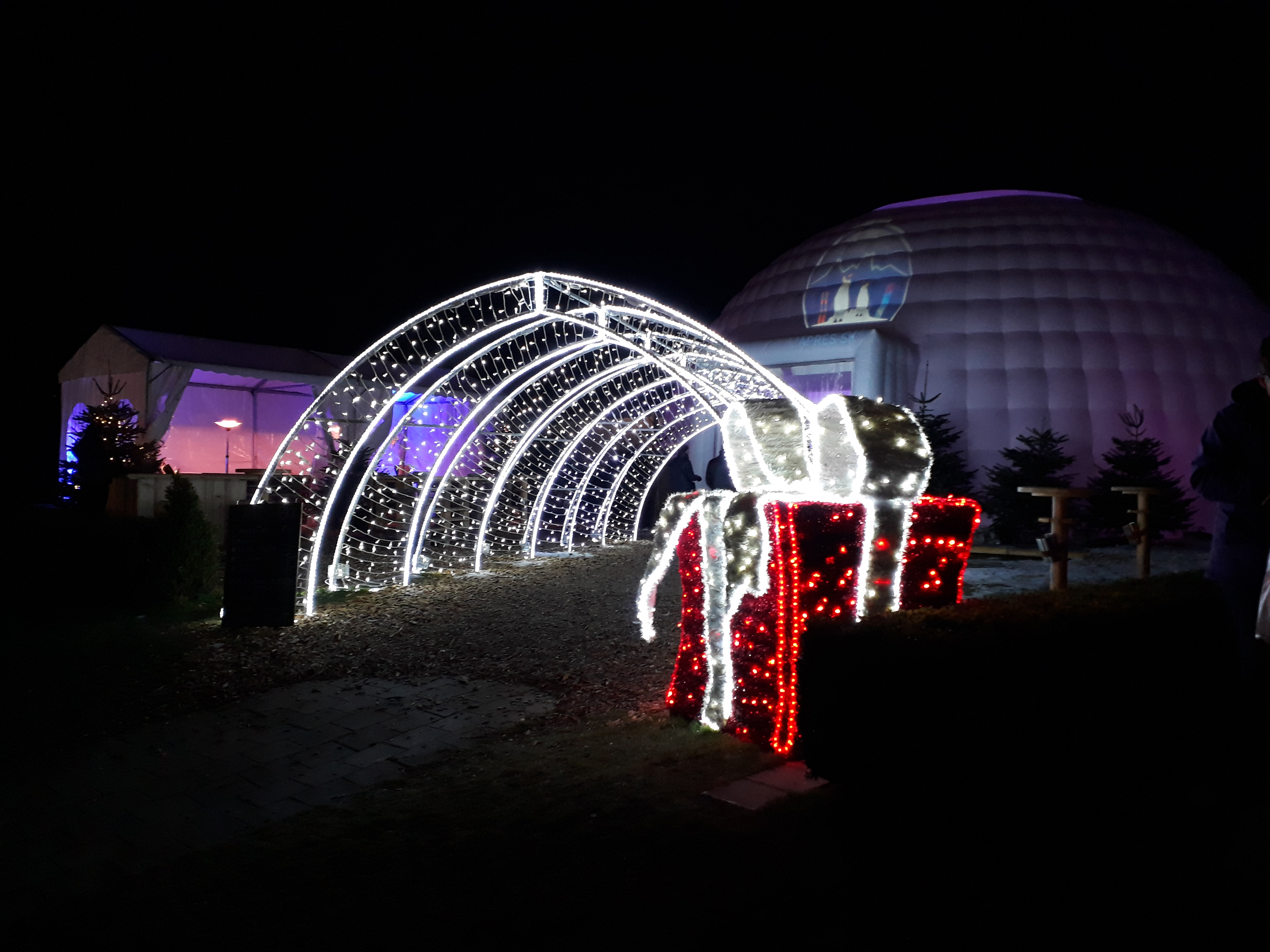 Montreux petit train - Noël