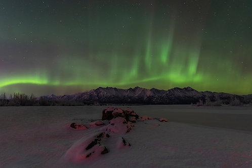 Knik River Lights - Feb 1, 2021