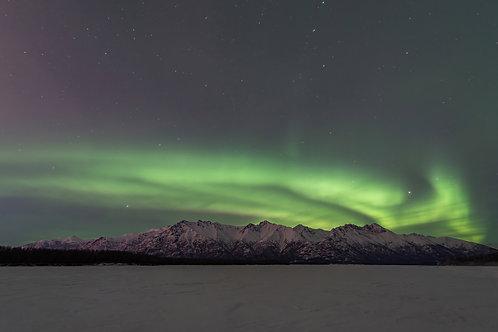 Chugach Mountain Aurora - March 2, 20201