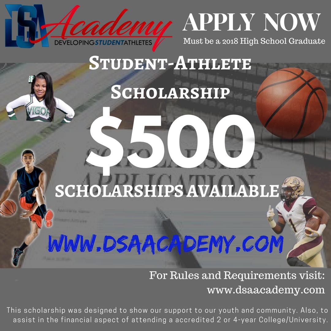 2018 DSA Scholarship Flyer