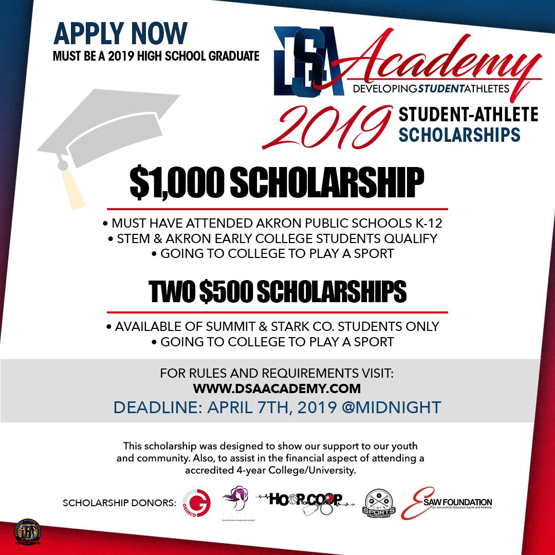 2019 DSA Scholarship Flyer