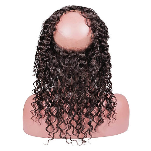 360 Virgin Deep Curly Frontal