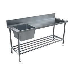 BenchTech Left Hand Side Bowl Single Sink Bench Australia's Highest Quality Modular Benching