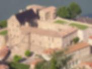 Façade du château de Tournon - Famille de Chabannes