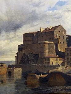 Peinture du château de Tournon - Famille de Chabannnes
