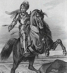 Gravure de Jacques de Chabannes - Famille de Chabannes