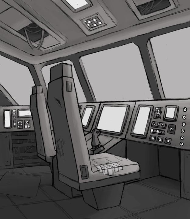 Spaceship Quarter View