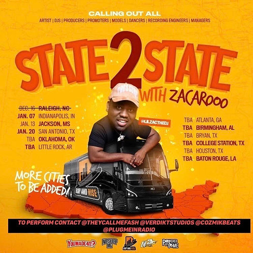 STATE 2 STATE WITH ZACAROOO ( 5mins Slot)