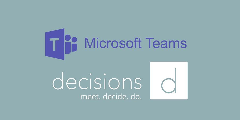 Microsoft Teams og Decisions' møde-app (afholdt 1.0)