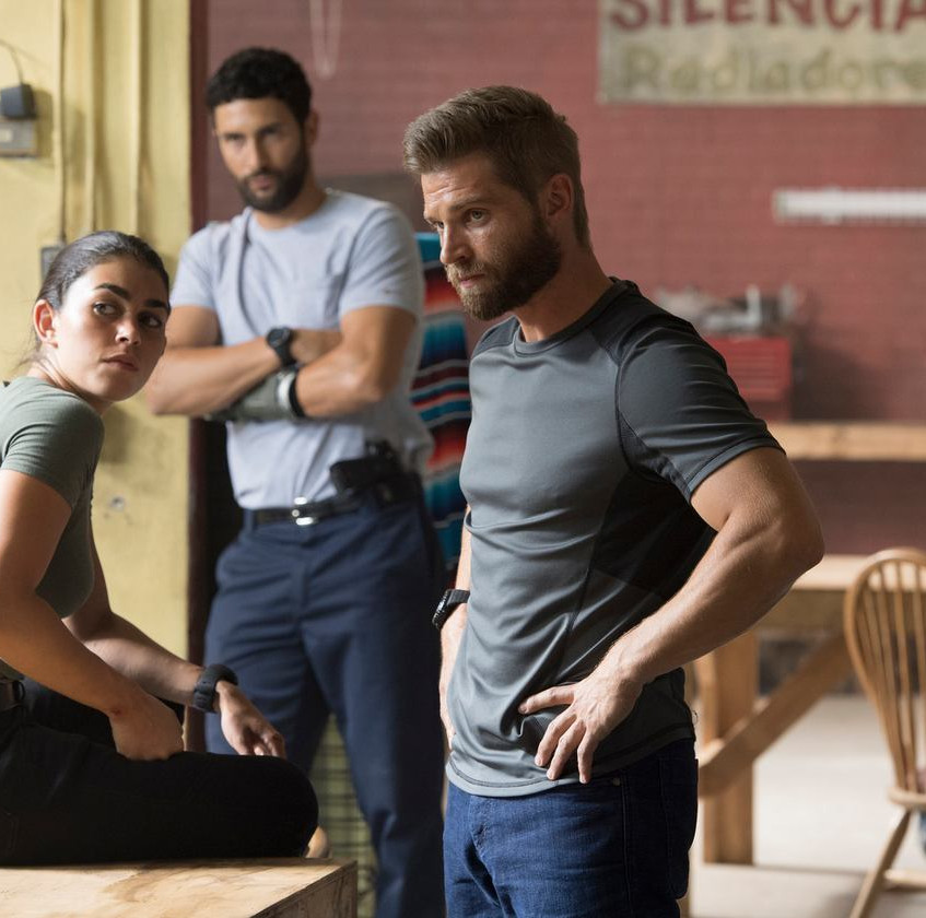 THE_BRAVE_--__The_Greater_Good__Episode_105_--_Pictured-_(l-r)_Natacha_Karam_as_Sergeant_Jasmine__Jaz__Khan,_Noah_Mills_as_Sergeant_Joseph__…_Lewis_Jacobs_NBC___2017_NBCUniversal_Media,_LLC