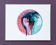 Wyoh Lee / los angeles artist circle painting