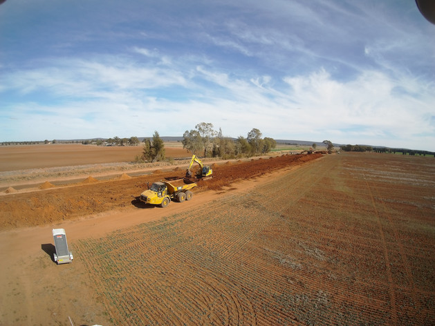 Extons Earthmoving Channel Works Yenda New South Wales