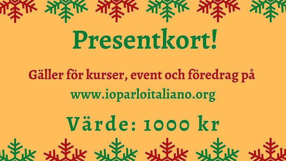 Presentkort - 1000