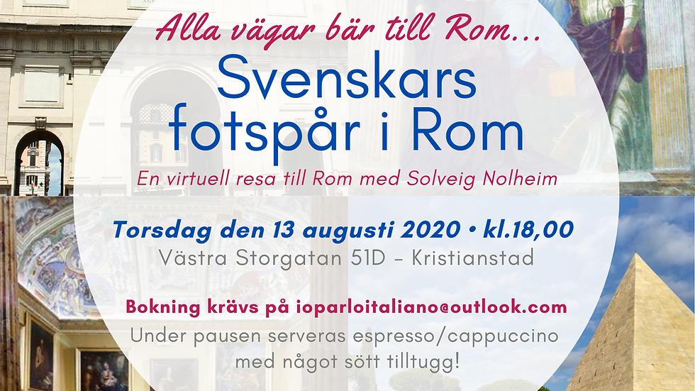 Alla vägar bär till Rom (på svenska) - 13/8/2020