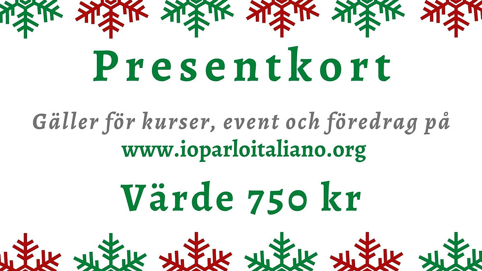 Presentkort - 750