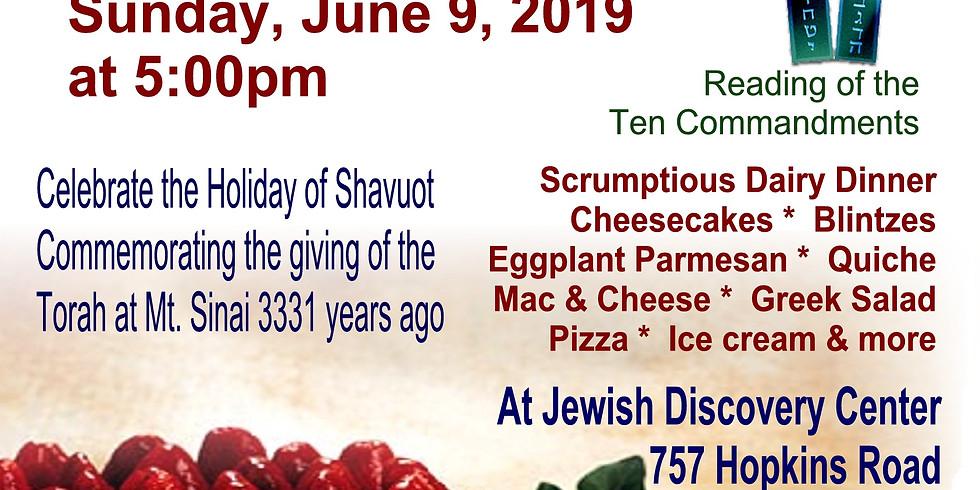 Shavuot Pizza, Ice Cream & Cheesecake Party!