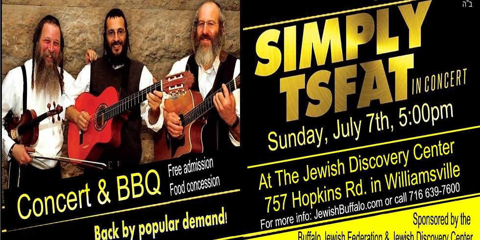 """Free Concert with """"Simply Tsfat"""" - Sunday, July 7th, 5:00pm @ Jewish Discovery Center"""