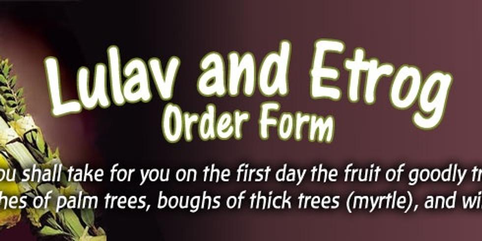 Order Your Lulav & Esrog set