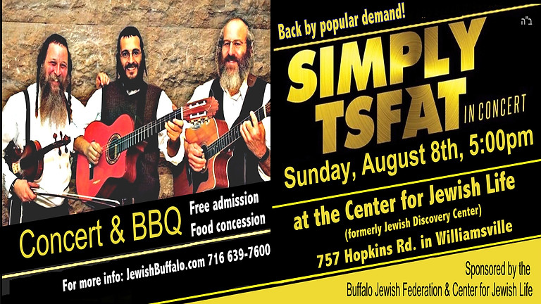 """Free Concert with """"Simply Tsfat"""" & BBQ"""