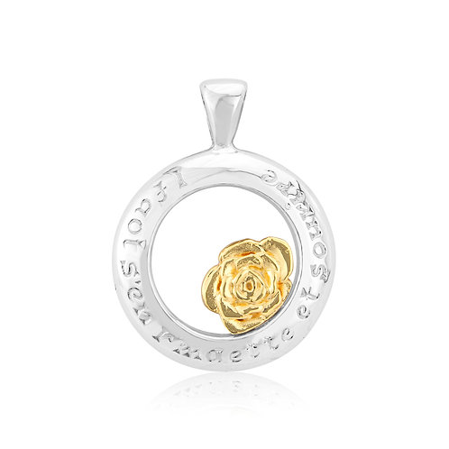 Sterling silver & 18ct yellow gold pendant