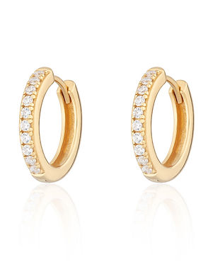 Gold Plated Large Huggie Hoop Earrings w